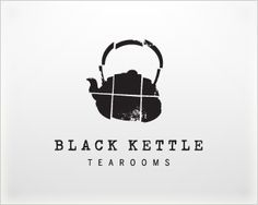 black kettle tearooms logo - via logo pond #logo #black #texture