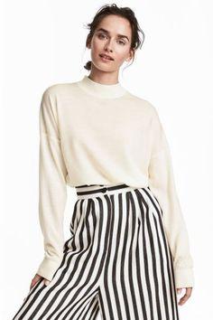 Sweter z wełny merynosowej - Biały - ONA | H&M PL