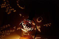 Handmade stirring calabash lamp ' Leaves by CalabashLights