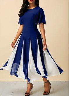 Cheap blue Dresses online for sale Cheap Blue Dresses, Blue Chiffon Dresses, Red Chiffon, Navy Dress, Trendy Dresses, Tight Dresses, Women's Fashion Dresses, Sexy Dresses, Casual Dresses
