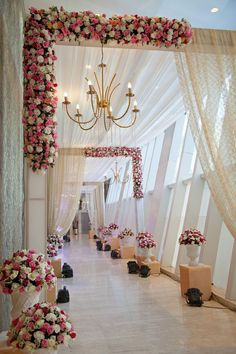 Wedding ceremony pictures Wedding entrance Wedding stage decorations Wedding entrance decor Wedding hall decorations Wedding arch - A dreamy pathway for your dream wedding Weddingideas weddingp - Desi Wedding Decor, Wedding Stage Design, Wedding Hall Decorations, Marriage Decoration, Wedding Mandap, Wedding Chairs, Wedding Table, Wedding Scene, Wedding Church
