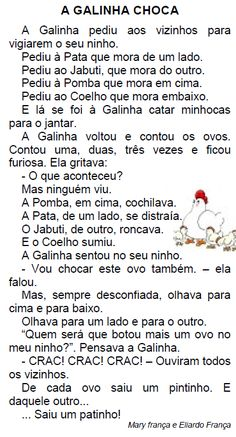 Texto A GALINHA CHOCA