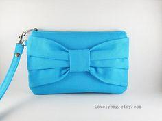 SUPER venta  embrague de arco azul  iPhone 5 pulsera por LovelyBag