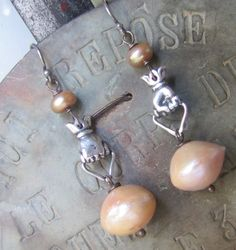 Baroque Pearl Earrings by FrenchSentiments on Etsy, Kathy Barrick, French Sentiments