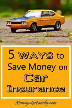 5 Ways to Save Money on Car Insurance http://moneywisefamily.com/save-money-on-car-insurance/