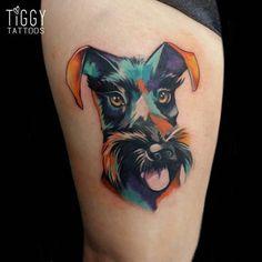 Painted Dog Tattoo | Best Tattoo Ideas Gallery