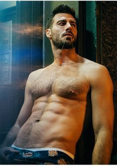 #JustinClynes #Hairy Chest by Erik Carter