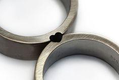 Heart wedding rings love ring wedding ring set by CADIjewelry, $330.00