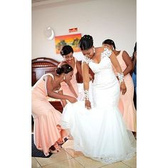 Congratulations sweetheart you were such a gorgeous bride. God bless your Union Hun Brides gown by Photography by Makeup by Helena Backyard Wedding Dresses, Wedding Bridesmaid Dresses, Wedding Attire, Bridal Dresses, Wedding Gowns, Mermaid Dresses, Black Bride, Bride Gowns, Elegant Wedding Dress