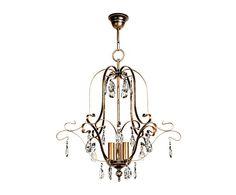 Lámpara de techo de metal y cristal con 3 luces Reagan - bronce