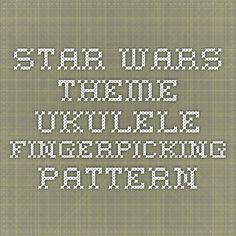 Star Wars Theme Ukulele Fingerpicking Pattern