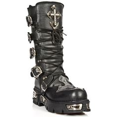 M1034-S1 Tall New Rock Boots with Crosses