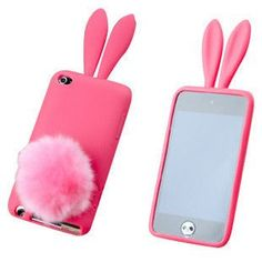 Red Bunny Rabbit Design TPU GEL Skin Case Cover for iPod Touch 4 / 4th / 4G - iPod touch 4 Cases - iPod Cases