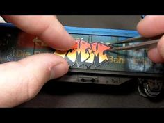 ▶ Weathering a boxcar part 3 - graffiti on trains using an airbrush - YouTube