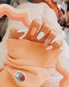 Simple Acrylic Nails, Summer Acrylic Nails, Best Acrylic Nails, Pastel Nails, Acrylic Nail Designs, Acrylic Gel, Aycrlic Nails, Swag Nails, Coffin Nails
