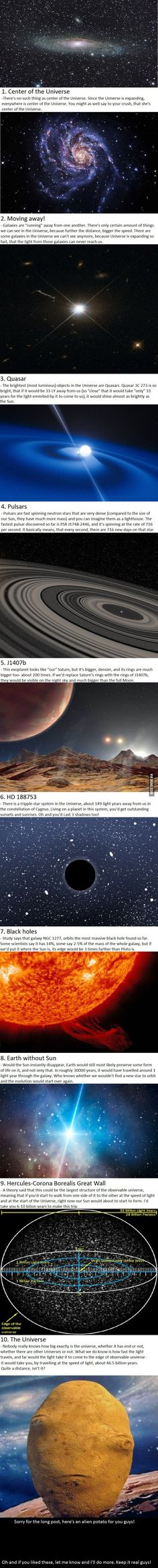 10 INTERESTING FACTS ABOUT THE UNIVERSE p.1  My first try with these, please be gentle guys... - 9GAG