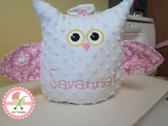 Personalized Minkee Baby Blankets and stuffed animals at www.sun7designs.com