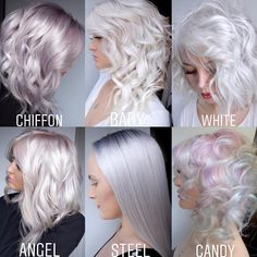 Avant Garde Hair Color Trends To Cos - Page 2 of 3 - Hannahsdaily Silver Blonde Hair, Platinum Blonde Hair, Silver White Hair, Icy Blonde, Cool Hair Color, Hair Colors, Hair Dos, Pretty Hairstyles, Style Hairstyle