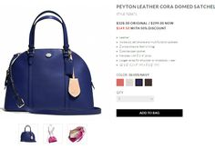 COACH | Peyton Leather Cora Domed Satchel