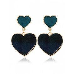 Romantic Sweethearts Drop Earrings Green (410.040 IDR) ❤ liked on Polyvore featuring jewelry, earrings, drop earrings, green jewelry, green earrings, green jewellery and earring jewelry