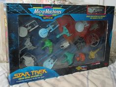 A Junkee Shoppe Junk Market Stop: MICRO MACHINES Star Trek Space Ships Set Galoob 1993 ... For Sale Click Link Here To View >>>> http://ajunkeeshoppe.blogspot.com/2015/12/micro-machines-star-trek-space-ships.html