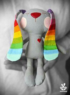 Bunny rainbow ears