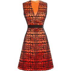 ROKSANDA Fire Red Alves Dress With Black Belt ($1,895) ❤ liked on Polyvore featuring dresses, zipper back dress, red cocktail dress, red lace dress, lacy red dress and roksanda dresses