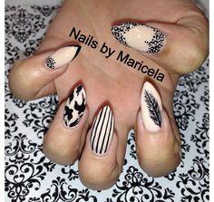 Sparrow nail art - nail tip: stilettos