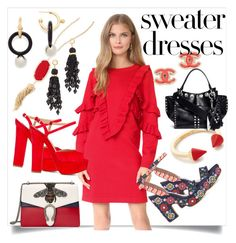 """""""Sweater Dress..**"""" by yagna ❤ liked on Polyvore featuring Suncoo, Dsquared2, Gucci, Lizzie Fortunato, Tabitha Simmons, Vita Fede, Kendra Scott, Proenza Schouler, Marni and vintage"""