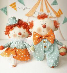Textile Dolls | Текстильные куклы Пончик и Веснушка