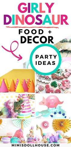 Throw a Dinosaur Party Girl Style Let's style a dinosaur party for girls! If you have a sweet little princess who loves dinosaurs, dress up your favorite giant lizards with all the pink, tulle, gold and fun girl power style to make her birthday a blast! If you love dinosaurs, but still want a fun a girly party theme..these dinosaur party ideas for girls are definitely going to turn your party into a RAWR-ing success. From cookies to backdrops...we have the glitter, pink and fashion for you!