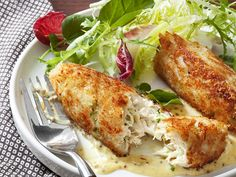 Crabmeat Cakes with Mustard Sauce Recipe : Food Network - FoodNetwork.com