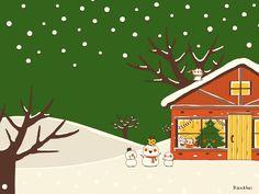 クリスマスの朝(緑) ■ カナヘイの家