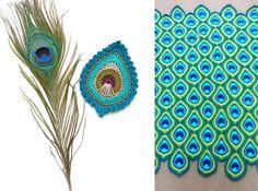 Peacock Crochet Blanket Pattern Free