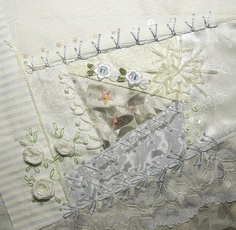 I ❤ crazy quilting & embroidery . . .  Helina's own Winter block ~By Helinacq