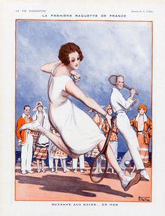 Armand Vallée, 1921, Suzanne Lenglen Tennis Champion, La Vie Parisienne