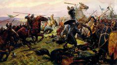 Batalla de Hastings, cortesía de Tom Lovell. La mejor colección de láminas militares en http://www.elgrancapitan.org/foro/