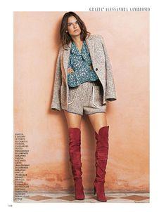 Alessandra Ambrosio – Grazia Magazine Italy November 2015 Issue