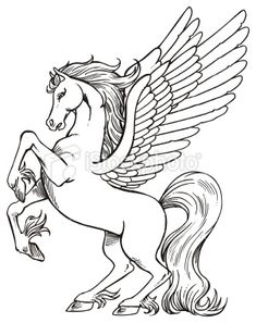 Barbie And Pegasus Coloring Pages Realistic Winged Unicorn Nazly