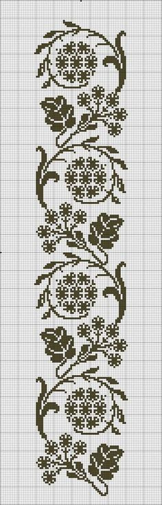 This Pin was discovered by Lil Cross Stitch Bookmarks, Crochet Bookmarks, Cross Stitch Borders, Cross Stitch Flowers, Cross Stitch Designs, Cross Stitching, Cross Stitch Embroidery, Embroidery Patterns, Cross Stitch Patterns