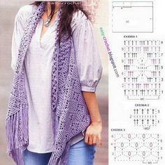 The vest made up of three models of stitches The first and second models for the vest body by rotation After completion of the vest body w...