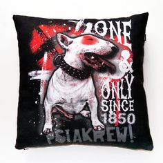 Dog Decorative Pillow, cushion Bull Terrier 1850 by PSIAKREW on Etsy
