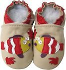 carozoo fish cream 6-12m new soft sole leather baby shoes