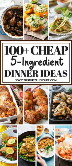 135 cheap, easy and delicious 5-ingredient dinner ideas to make supper time a breeze. #easydinnerideas #easydinnerrecipes #cheapdinnerideas #cheapdinnerrecipes #dinnerrecipes