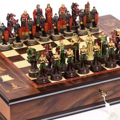 Robin Hood  the Sheriff of Nottingham Chessmen  Napoli Chess BoardCabinet From Italy -- You can find more details by visiting the image link.