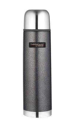 BARGAIN Thermos Thermocafe 1 Litre Stainless Steel Hammertone Flask £8 at Amazon - Gratisfaction UK