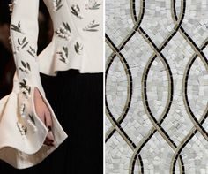 Same design - clothes (Christian Dior's Spring 2016) & houses; Walker-Zanger shows how. http://www.hometipsforwomen.com/decorating-white-marble-texture