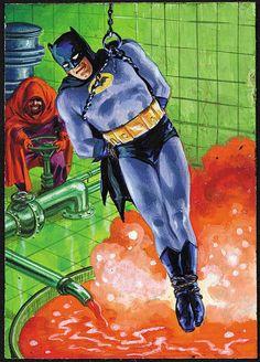 "1966 Topps ""Batman"" Original Card Artwork (Norm Saunders) #12A ""Boiling Bath"""