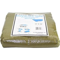OUVRALL Tarp 34996 MultiPurpose 16Feet x 50Feet Polyethylene Woven Tarp * You can find more details by visiting the image link.