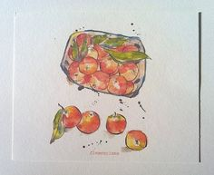 Winter Fruits Prints Set of 3 different от PebbleandBee на Etsy
